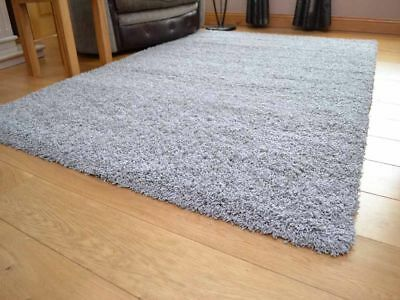 Silver Shaggy Rug Super Soft 50 mm High Stain and Wear Resistant Pile