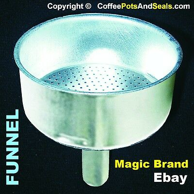 6 Cup FUNNEL Bialetti Replacement Aluminium Express Coffee Pot Maker 06877 New