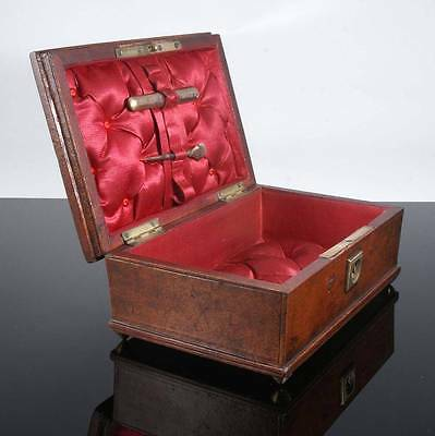 Antique Victorian Leather Sewing Box