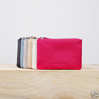 EMMA YAO women's leather coin purse small zipper bag brand mini wallet slim case