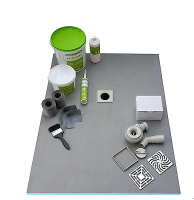 Wet Room Wetroom Shower Tray Kit  All sizes available Including Linear Kits -G/S