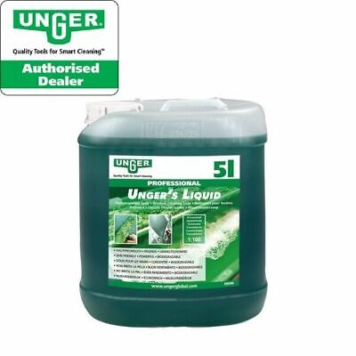 Unger's Liquid 5ltr Soap Window cleaning additive No Smears x1