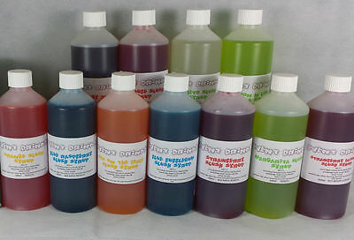 Megapack Of 11 Flavours Of Slush Syrups Snow Cone