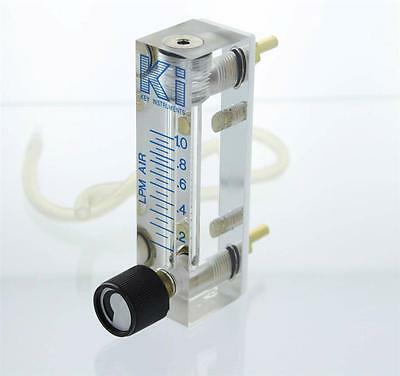 Key Instruments Precision Flow Meter .1 - 1 Lpm Machined Acrylic 1/8 Connection