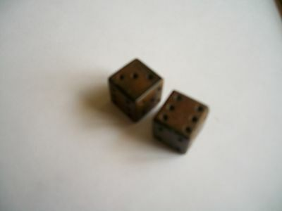 """1 pair,Water Buffalo Horn Dice, Dyed, 5/8""""x5/8""""(15x15mm)"""