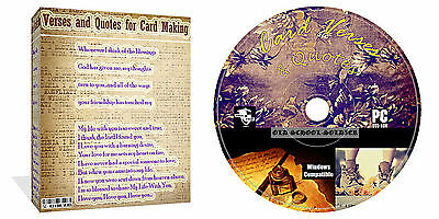 Card Verses and Quotes on CD Everything For Card Making Arts /& Crafts 7000