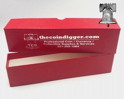 8 Coin Holder Storage Box Red 4.5x2x2 SINGLE ROW for 2x2 Flip or Snap Case Boxes