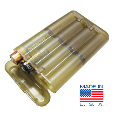 Tactical Battery Holder Case Storage Box Us1017 Aaa-Aa-Cr2-Cr123 Made In Usa