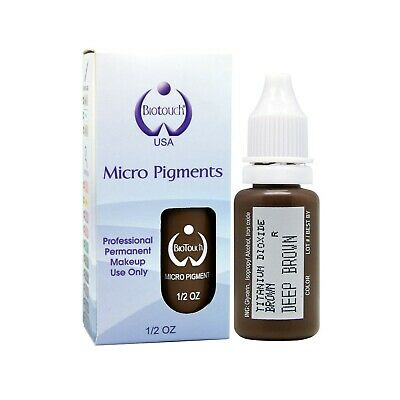 BioTouch 15ml DEEP BROWN Cosmetic Tattoo Pigment ink microblading supplies