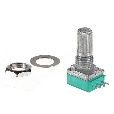 M5 1/5/10/20/100/500K OHM Linear Taper Rotary Potentiometer Pot With Nut Spacer