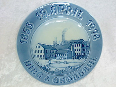 "Bing & Grondahl Collector / Advertising Plate - 125th anniversary vgc (9 1/8"")"