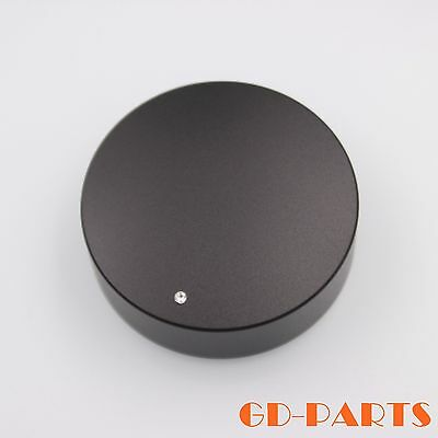 1PC 49*16mm Black Machined Solid Aluminum Knob For Amplifier CD Player Radio DAC