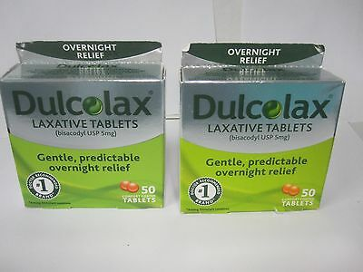 100 Tablets DULCOLAX  Laxative comfort coated Tablets Bisacodyl USP 5mg 08/2022