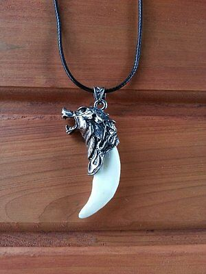Dire Wolf Tooth Pendant Necklace