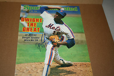 Ny Mets Dwight Doc Gooden Signed 11X14 Si Cover Photo W/85 Young