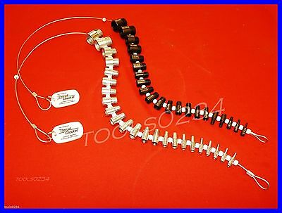 Pair of Sets Thread Checker Test Gages Inch & Metric 44pc Cable Coarse Fine S&W