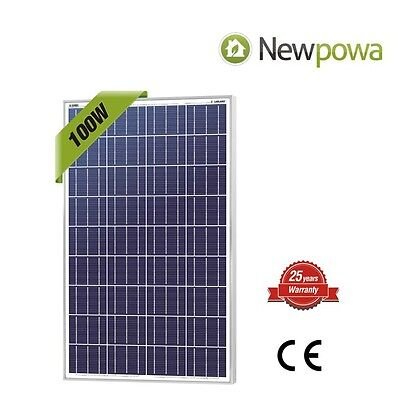 NewPowa High efficiency 100W 12V Polycrystalline Solar Panel Module