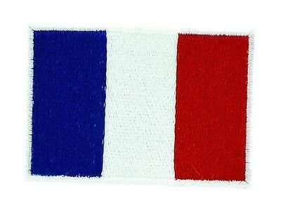 Lot de 5/10/25/50..Patch écusson brodé Drapeau FRANCE Français Thermocollant 7x5