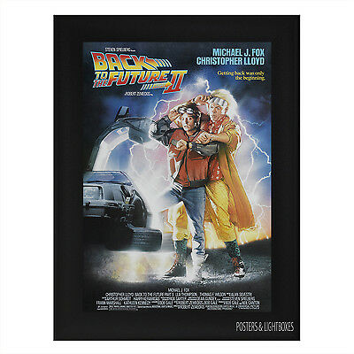 BACK TO THE FUTURE 2 Framed Film Movie Poster A4 Black Frame Michael J Fox