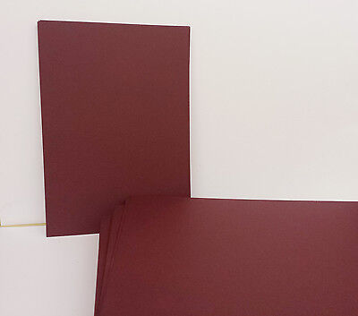 A5 1-500 Burgundy Maroon 250Gsm Card Plain Sheets Coloured Craft Card Stock