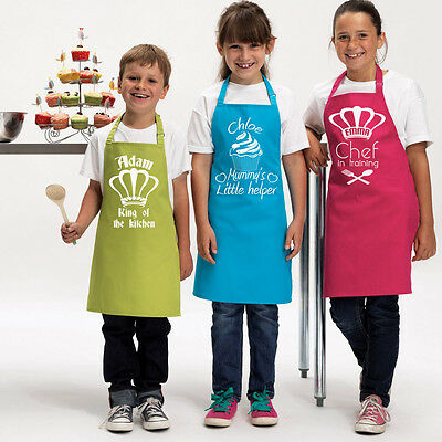 Personalised Kids Apron - Great gift for your little chef/cook. 3 colours