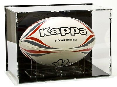 SORA Rugby Ball Case for Size 5 with Black Base and Black Back-Panel