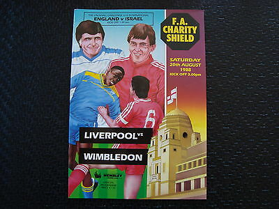 Liverpool v Wimbledon 1988  Charity Shield