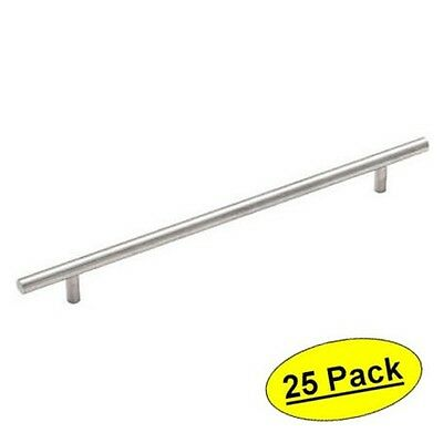 *25 Pack* Cosmas 305-192-SS Stainless Steel Euro Style Bar Pull