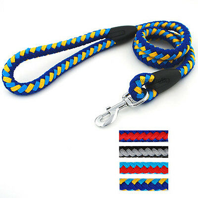 Braided Rope Pet Dog Lead Heavy Duty for Medium Large Dogs Training Walking 48''