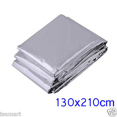 """2x Mylar Rescue Space Foil Thermal Emergency Blanket Camping Hiking 83"""" X 51"""""""