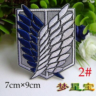 Attack on Titan Cosplay Scouting Legion Recon Corps Badge Patchs Embroidery Trac