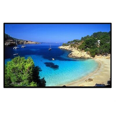 "84"" Portable Projection Screen Material Projector Home Cinema 16:9 Matt White"