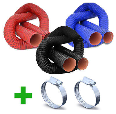 Flexible Air Ductings + Hose Clips - Silicone Coated Hot Cold Duct Induction