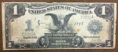 1899 $1 Silver Certificate Large Note In Vg, Very Good Fr236 Speelman-White