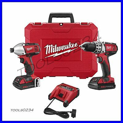 Milwaukee 2691-22 18V Lithium-Ion 2-Tool Compact Cordless Combo Kit FREE SHIP