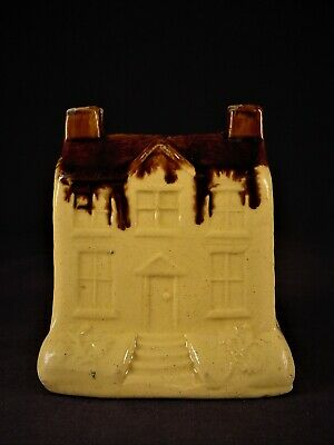RARE LARGE 1800s HOUSE BANK ROCKINGHAM YELLOW WARE