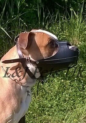 New Light Real leather Dog muzzle Amstaff and other similar snout