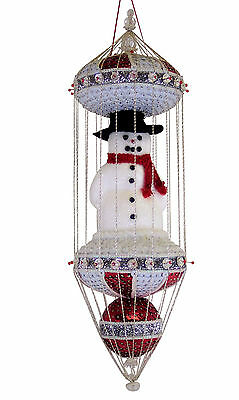 "BEADED CHRISTMAS ORNAMENT KIT - ""Bonhomme De Neige"""