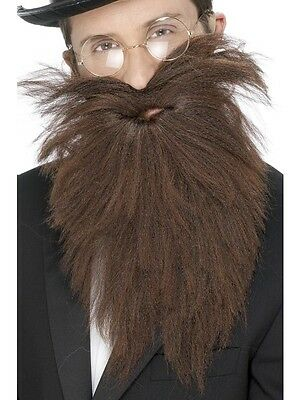 Adult Mens Long Brown Beard And Tash Smiffys Victorian Fancy Dress