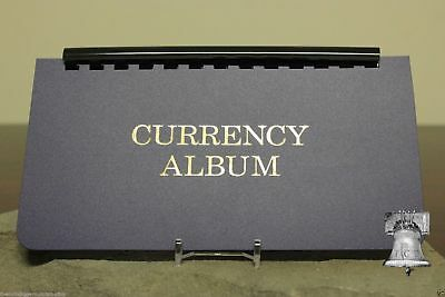 Whitman Large Currency Holder Album Removable 10 Semi Rigid Page Banknote Case