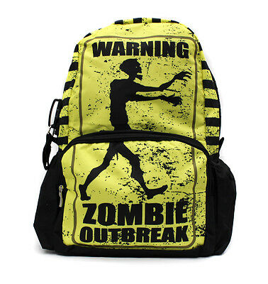 Hot Punk Gathic Disign Print School Backpack Zombie Outbreak