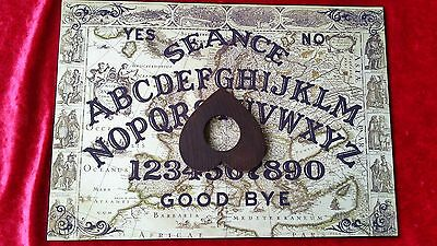 Ouija Board game Acrylic Magic Tour of Europa  Seance & Planchette Ghost Weeja