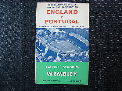 England v Portugal Oct 1961 World Cup qualifier
