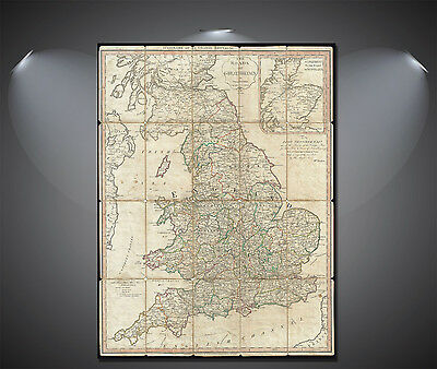 Great Britain Vintage Map Poster - A0, A1, A2, A3, A4 Sizes
