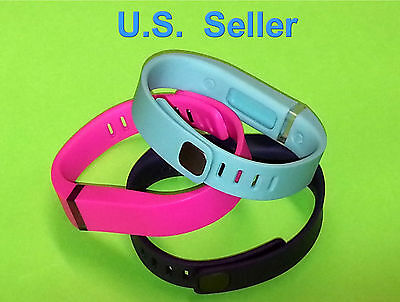 2 Small Combo PINK TANGERINE for FitBit FLEX Wristband//Bracelet Only-NO TRACKER