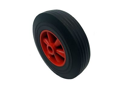 "PAIR OF 10"" ( 255 mm) SOLID RUBBER WHEEL Off Set Hub PUNCTURE PROOF Sack Truck"