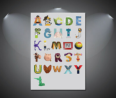 Toy Story Alphabet ABC Large Poster - A1, A2, A3, A4 sizes