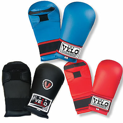 VELO Karate Elite Sparring Mitts Competition Martial Arts Training Gloves Mitt