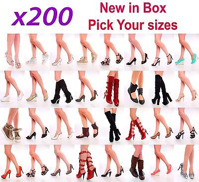 NIB 200 Womens Wholesale Lot Mix High Heel Platform Evening Pump Sandal Shoes