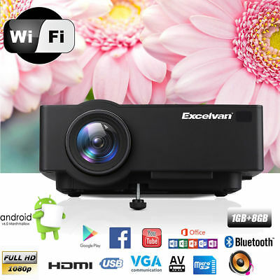 AU STOCK!! 3000 Lumens 1080P Open-Air 3D Home Movie Theater LED Projector HDMI